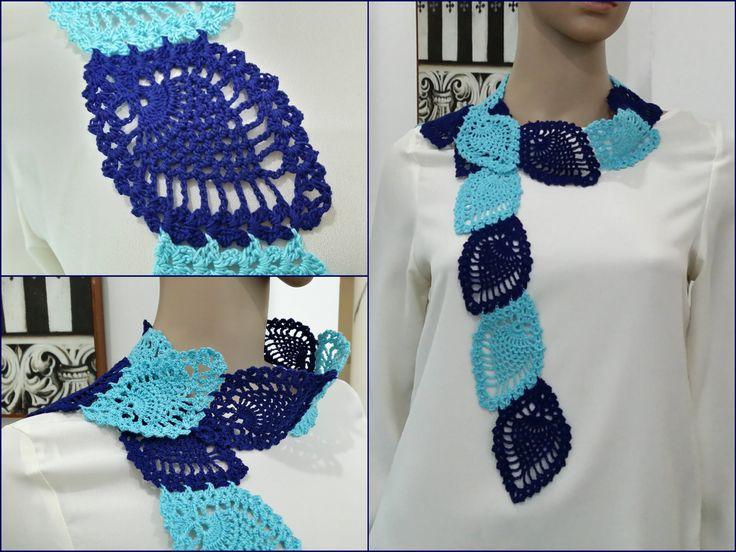 Crochet Scarf Tutorial Pattern #3 (Pineapple Pattern Scarf) part 3 of 3