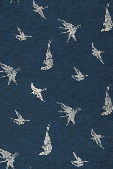 Birds Azure Wallpaper Prints, Paper, Wallpaper by Krane Home