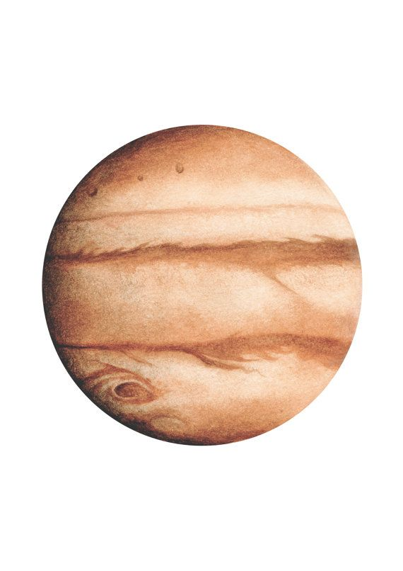 Jupiter Watercolour, Planet art, Planet Watercolor, planet Print, Bohemian art, Boho Decor, Space Art, Lunar art, Indie Decor
