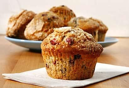 Muffins à l'avoine et aux canneberges