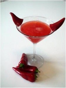Devil Went Down To Georgia martini - perfect for a Devil's Halloween Party