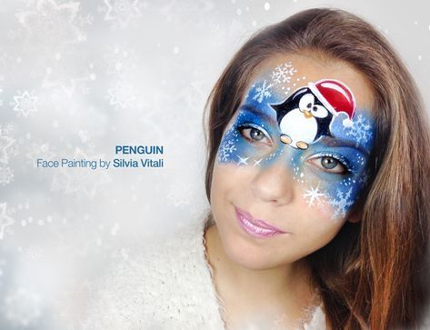 PENGUIN Face Painting by Silvia Vitali https://www.facepainting.academy/face-painting-academy-pre-lancio/