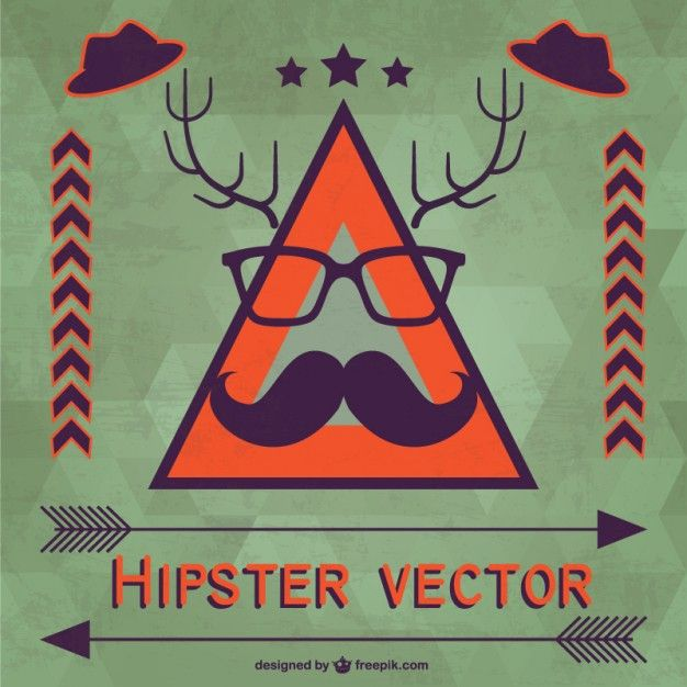 Hipster vector template Free Vector