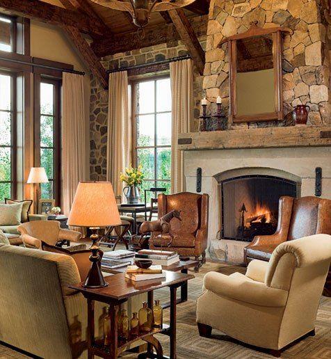 Ralph Lauren Living Room Photos: The Living Room. Fireplace. Bronze Lamp, CJ Peters. Stark