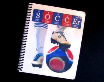 Soccer Journal Notebook ElementeesTM for the nerd in you