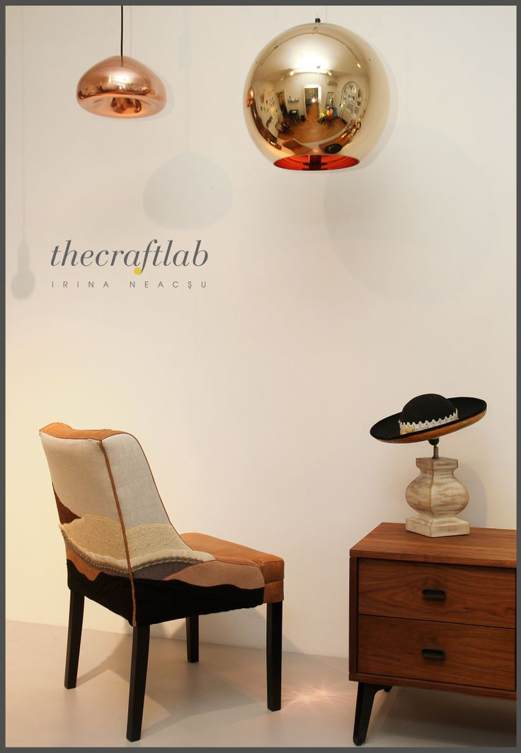 """Glamorous Tuesday or what?  """"Earth"""" armchair and """"Man"""" lamp at Intro, acting like true stars!  More of H.O.M.E. 2014 collection @: http://irinaneacsu.com/collection/H.O.M.E./"""