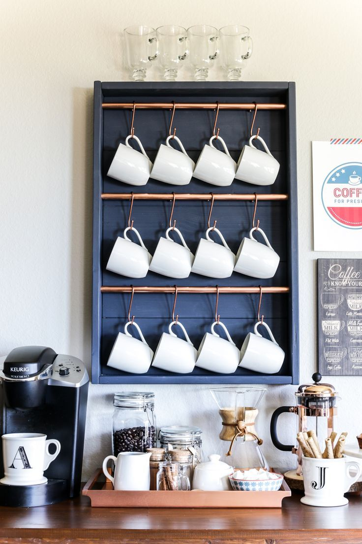 How to make a DIY coffee bar in one afternoon for about $25!