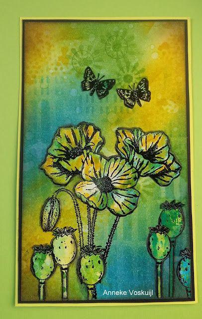 Art Journey Design-team: Poppy with Butterflies