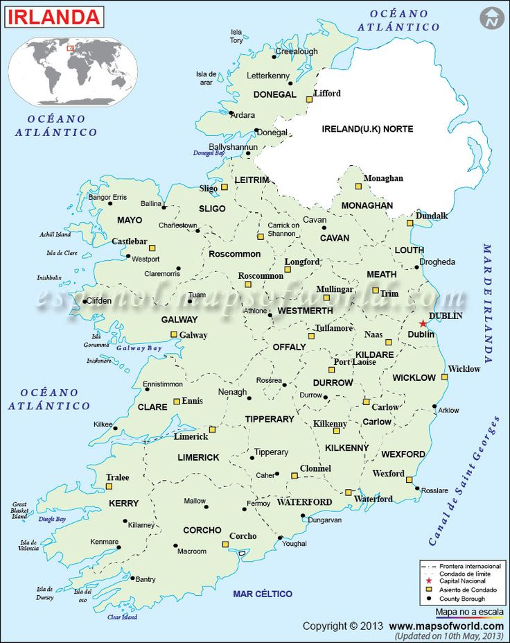 Irlanda Mapa; Mapa de Irlanda