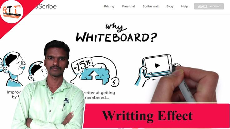 How To create Handwritting Effect Video on Mobile = Videoscribe