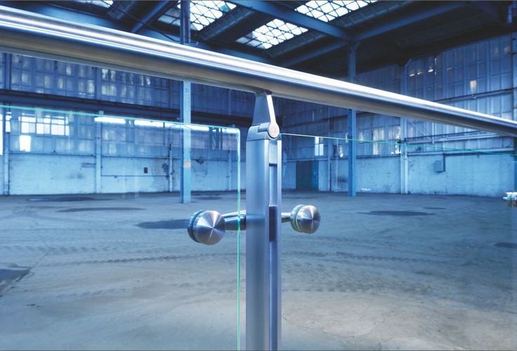 Styling up the stainless handrail to maintain industrial character of space