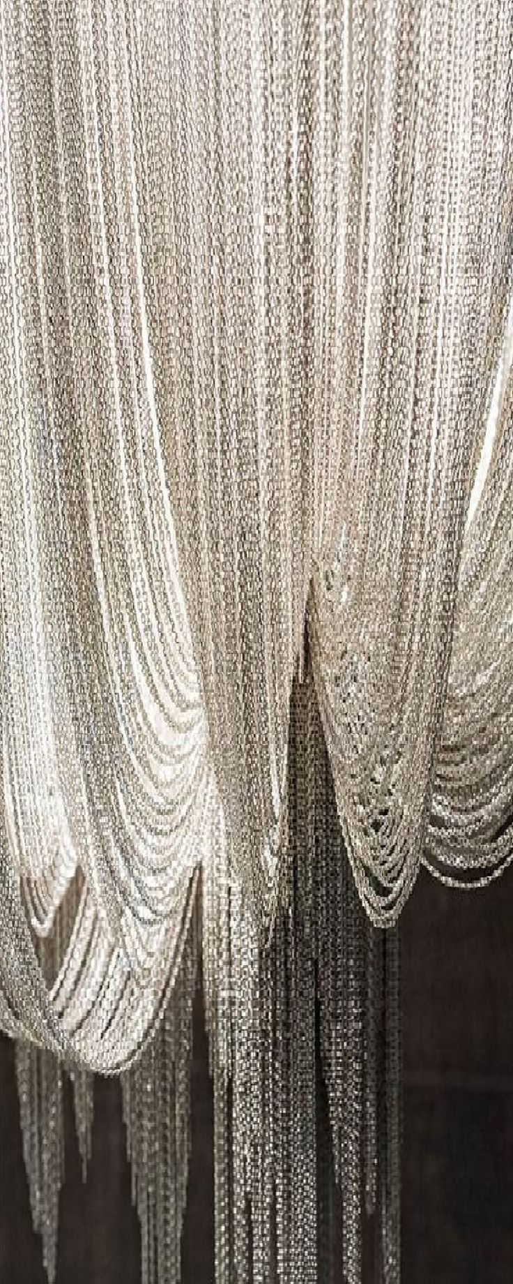 Frivolous Fabulous - Silver Chain Curtain #silver #chain | this is just so fashinating in an undescribable way