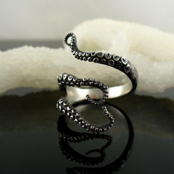VENDITA Handmade gioielli anello tentacolo polpo di OctopusMe
