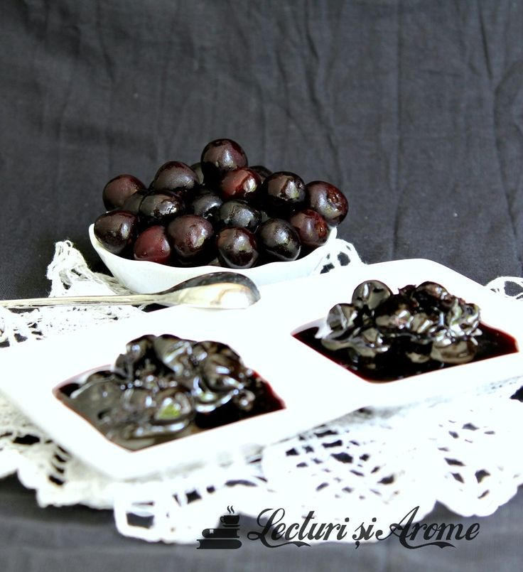Cirese negre amare si o dulceata