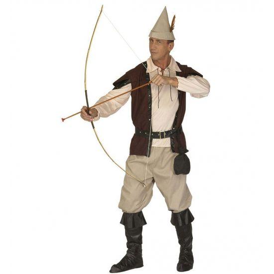 Robin Hood pak voor heren  Een compleet Robin Hood kostuum voor volwassenen. Stoer Robin Hood kostuum bestaande uit het hoedje de zandkleurige broek het beige overhemd een bruine gillet en de schoenhoezen. Een perfecte toevoeging aan deze outfit is het pijl en boog.  EUR 72.95  Meer informatie
