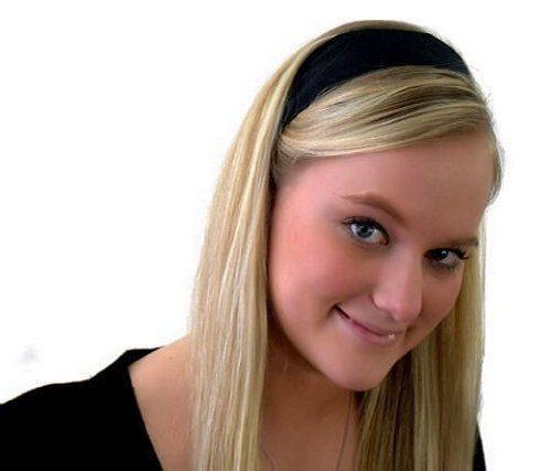 Skinny Headband, Deep Black Beautiful Soft Fabric Headband By Bargain Headbands Bargain Headbands. $5.99