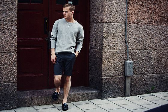 KNITTED SWEAT (by Gustav Broström) http://lookbook.nu/look/3861618-KNITTED-SWEAT-Filippa-K-Sweatshirt-Cos-Shorts
