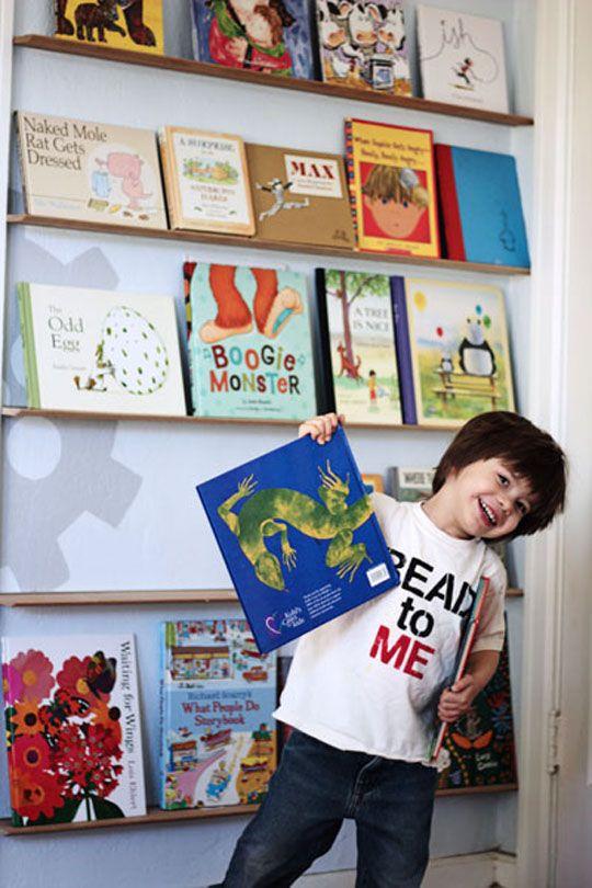 kid's book wall