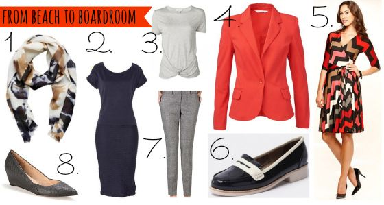 wardrobe boot camp: beach to boardroom