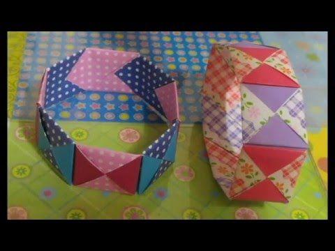494.종이팔찌접기.오월의장미.팔찌만들기.origami