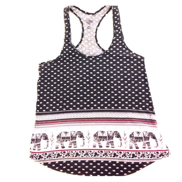Cute hipster top! Cute hipster top with oriental elephant print! I've only worn it for a few times, so it looks like you just bought it :). Really nice and soft fabric. Tops Tank Tops