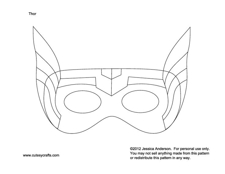 Thor Mask To Kids Patterns Moldes Pinterest Thor