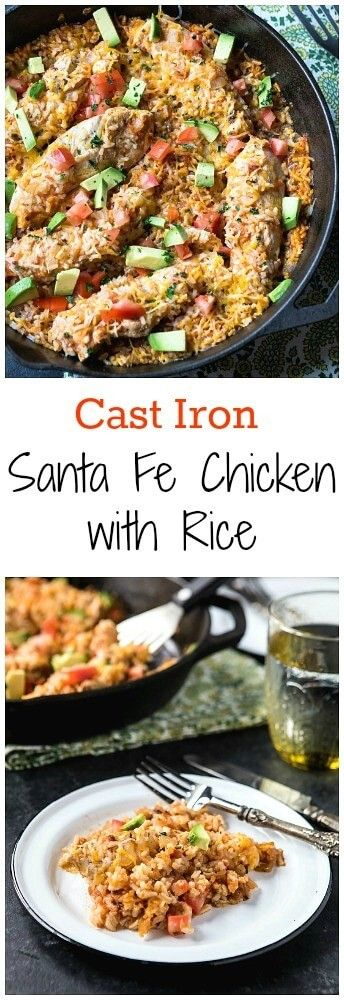 Cast Iron Santa Fe Chicken and Rice from @Meagan Wied (A Zesty Bite)