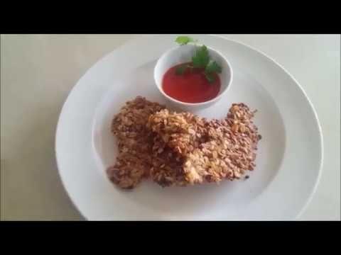 Receta de pollo crujiente rebozado con muesli