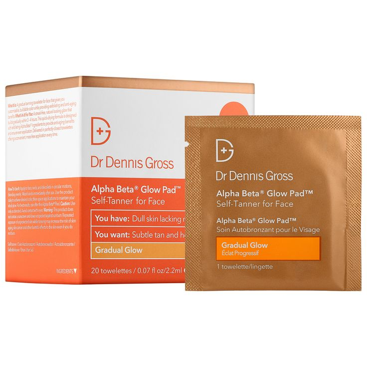 Shop Dr. Dennis Gross' Alpha Beta® Gradual Glow Pad Self-Tanner for Face at Sephora. The towelette for face gives you customizable, buildable color.