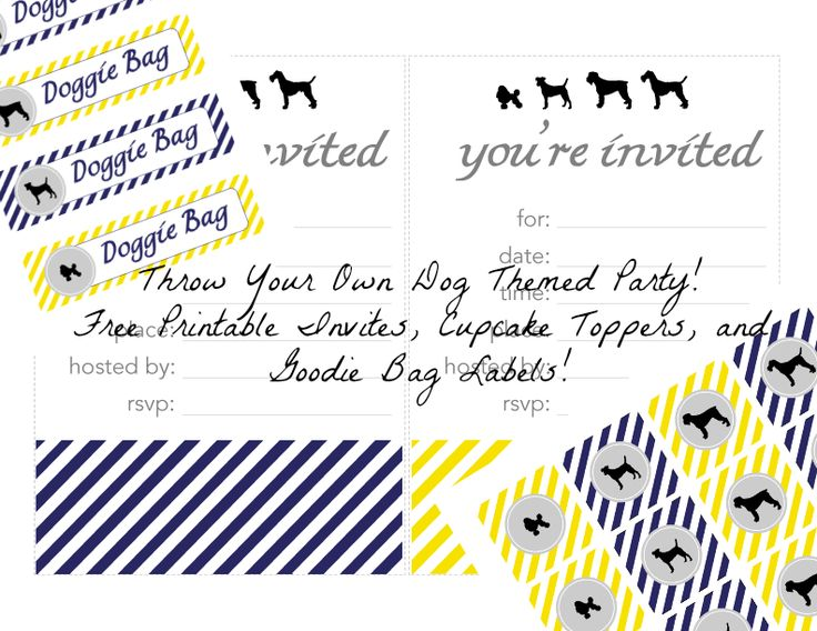 throw a dog themed party  free printables dog themed