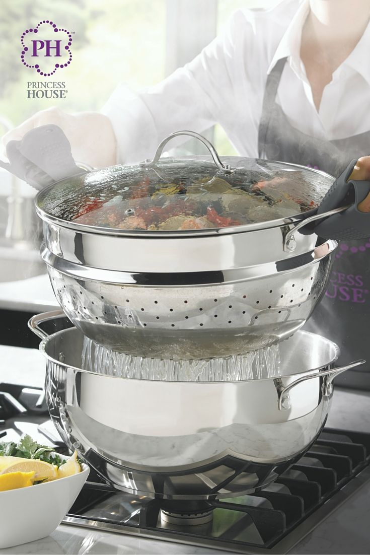The Princess Heritage® Stainless Steel Classic 10 Qt. Multipot U0026 Steamer  Insert Is