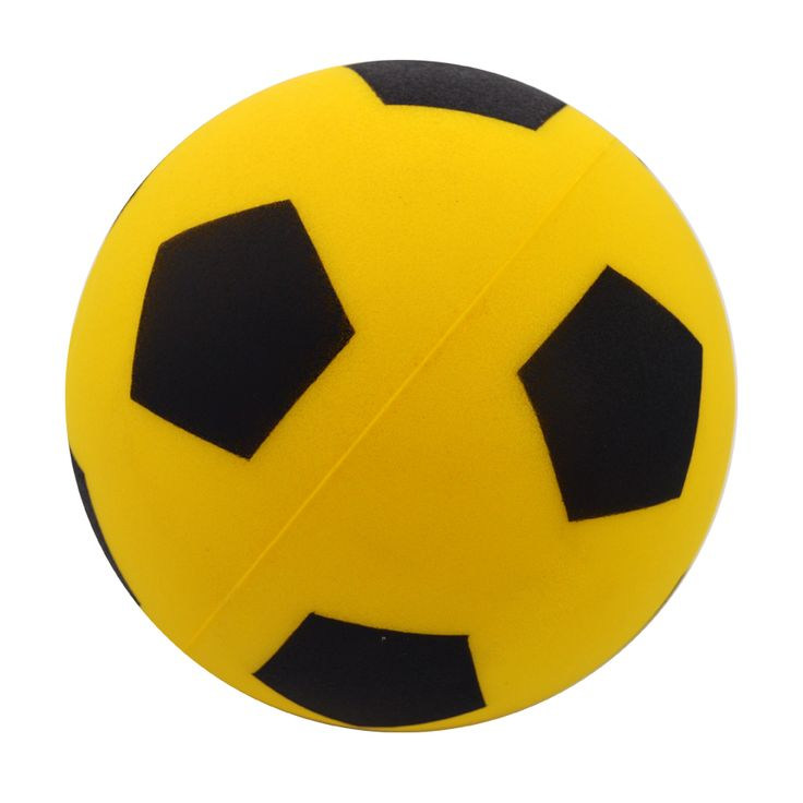 One of our Favourites! The Yellow Sprayed Panel Football http://foamballsdirect.co.uk/
