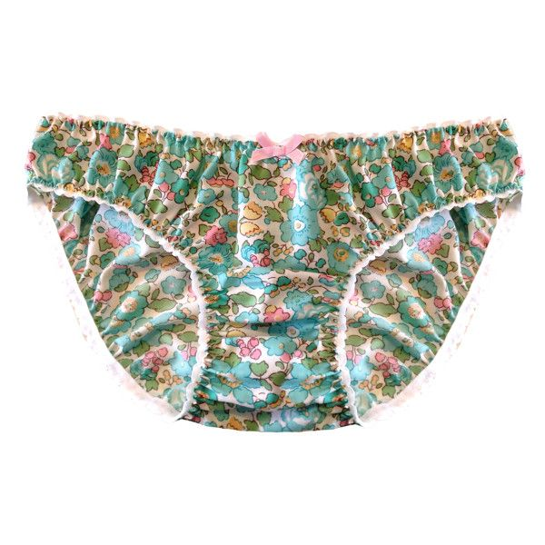 Mabel Liberty of London Cotton Knicker ($37) ❤ liked on Polyvore featuring intimates, panties, clothes / lingerie, knickers lingerie, floral lingerie, cotton knickers, cotton lingerie and retro lingerie
