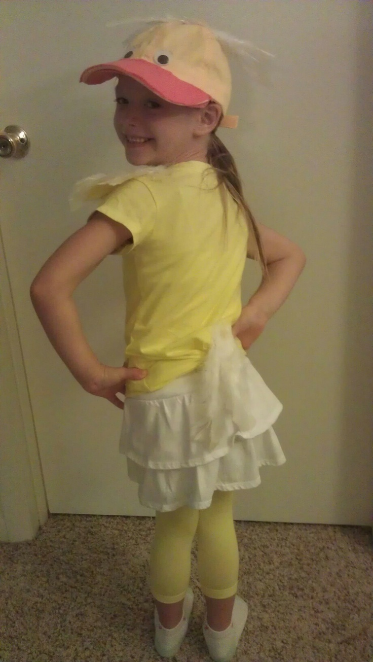 Duck costume - A White or Yellow Hat seems to be the way to go for DIY duck costumes.