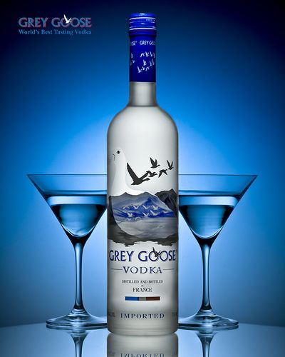 """Grey Goose Vodka - Best Vodka brands - It is crafted in tradition of the cognac region under the cellar master """"Maitre de Chai"""", using a 5 stage distillation process to transform fine french wheat and pure artesan spring water into the worlds best tasting Vodka. #Vodka #BestVodkaBrands"""