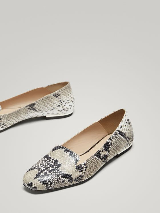 Animal Plano Piel Slipper Print Mujer Zapato De Zapatos 0Ok8wPn