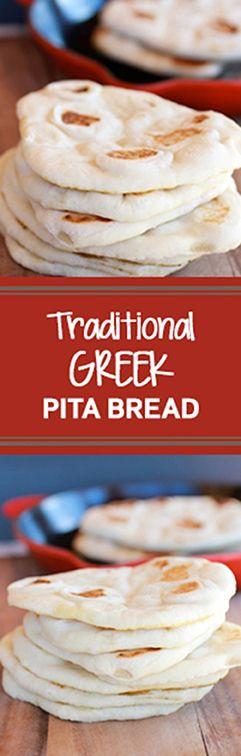 Homemade Traditional Greek Pita Bread | www.halfbakedharvest.com