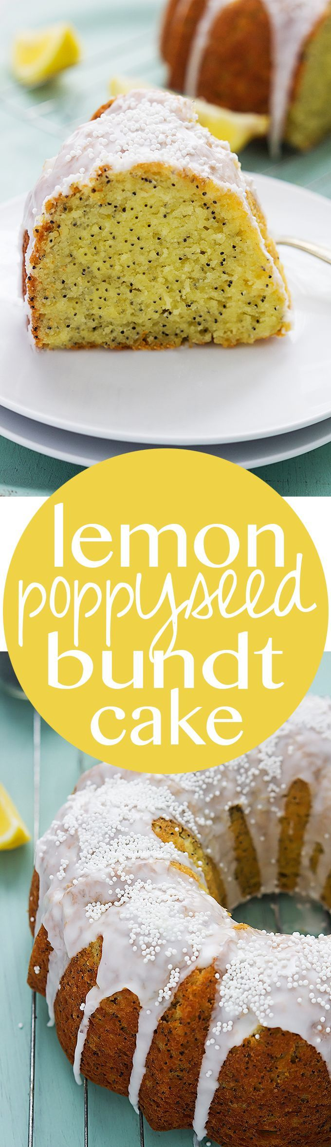 Super easy and moist Lemon Poppyseed Bundt Cake | Creme de la Crumb