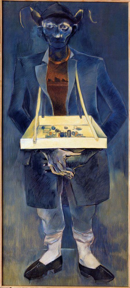 Neşe ERDOK, Çikletçi, 180x100 cm, 1980 , Tuval üzerine yağlıboya