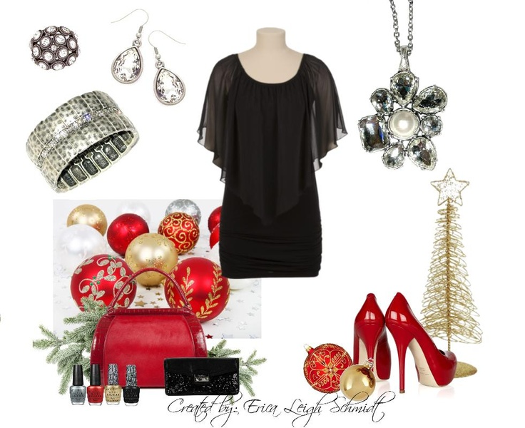 """Christmas Party!!!     """"Petal Pusher"""" necklace, """"Liz"""" earrings, """"Casual Chic"""" bracelet. """"Times Square"""" ring."""