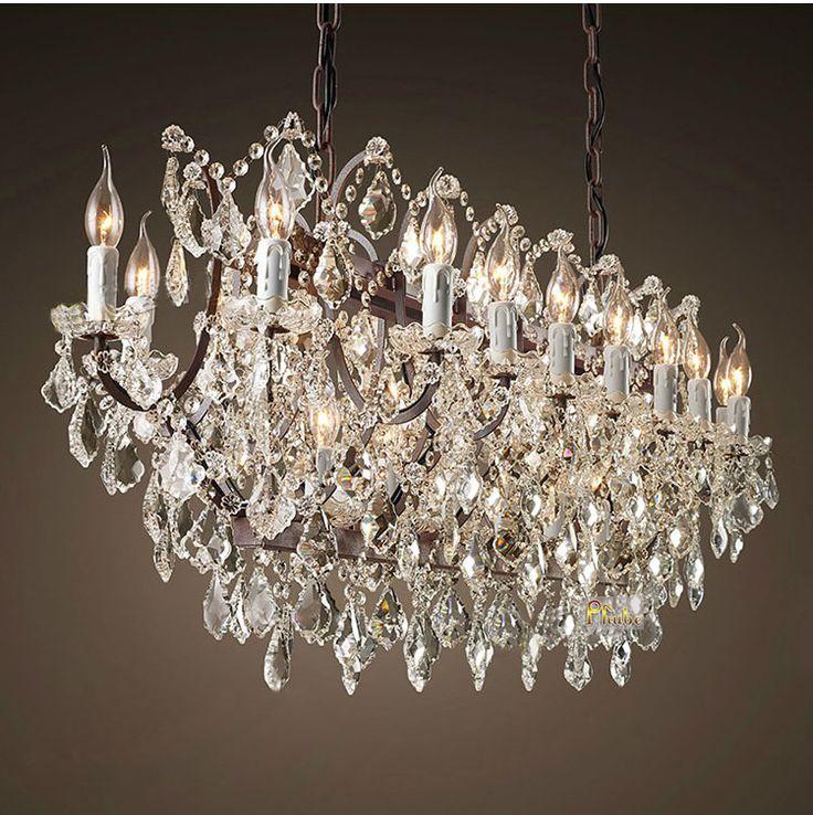 RH Retro Crystal Pendant Light Personality Dinning Room Pendant Light Lighting Fixture +Free shipping