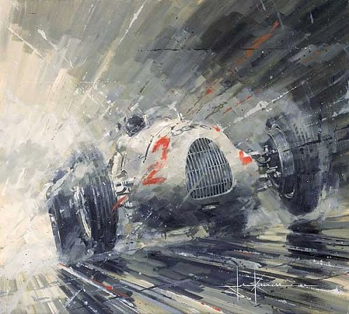 John Ketchell Paints Semi-Abstract Racing Fury