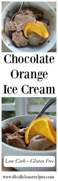 This low carb ice cream recipe combines the flavours of chocolate and orange making a creamy and delicious ice cream that is perfect for a summer's day. Recipe - http://divaliciousrecipes.com/2017/04/02/chocolate-orange-low-carb-ice-cream/