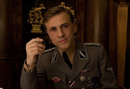 """Christoph Waltz playing Hans Landa in """"Inglourious Bastards."""" Tarantino acknowledged the importance of Waltz to his film by stating: """"I think that Landa is one of the best characters I've ever written and ever will write, and Christoph played it to a tee. It's true that if I couldn't have found someone as good as Christoph I might not have made Inglourious Basterds"""". Get the great actor in your life a Knock out! gift certificate."""