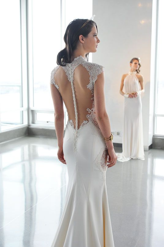 12 Wedding Gowns That Are Even More Gorgeous From the Back. The back of this dress is just stunning.