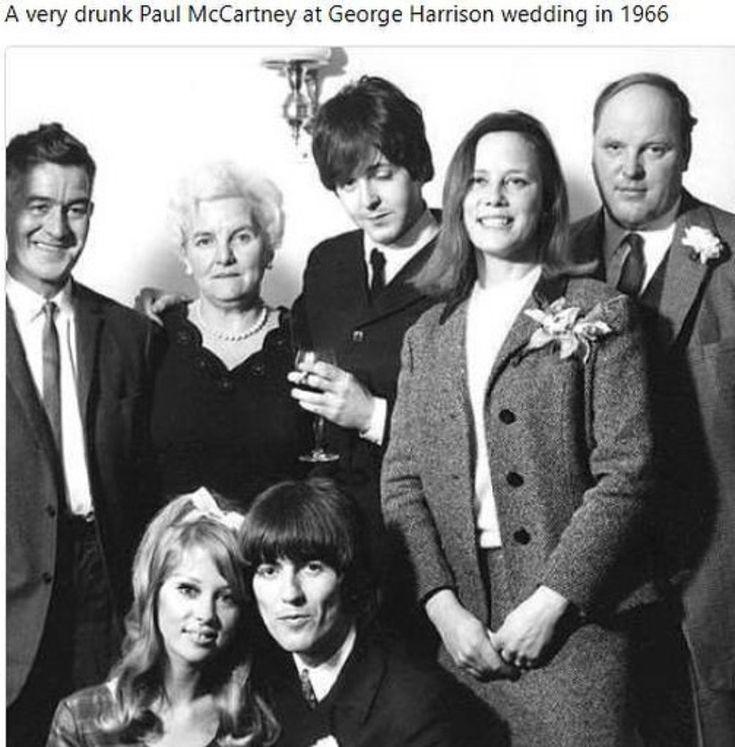 The wedding  of George Harrison &Patti Boyd w/Paul McCartney  as Best  Man