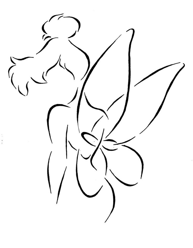 I've always wanted a fairy tattoo so this outline of Tinkerbell is awesome! I just dont think I'd use her tho