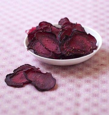 Photo de la recette : Chips de betterave au four – fait maison sans friteuse