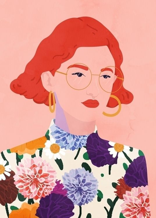 Primavery style - illustration, fashionillustration - petraerikssonstudio | ello  Petra Eriksson Portrait