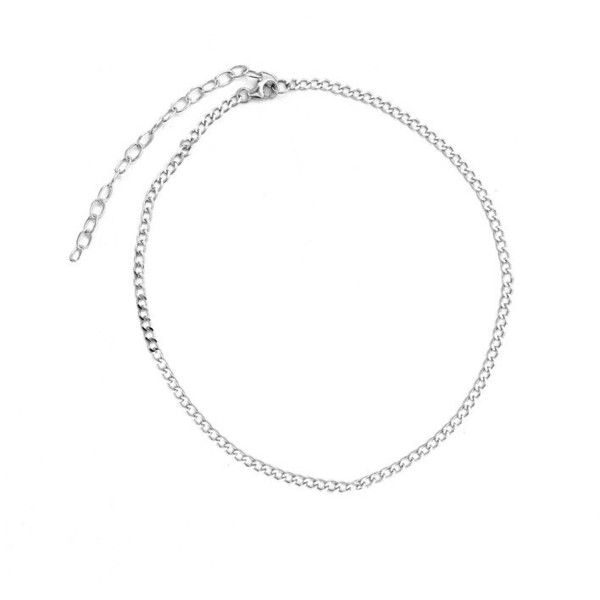 CURB CHAIN CHOKER The M Jewelers ❤ liked on Polyvore featuring jewelry, necklaces, jewels jewelry, jeweled choker necklace, choker jewellery, choker jewelry and jewel necklace